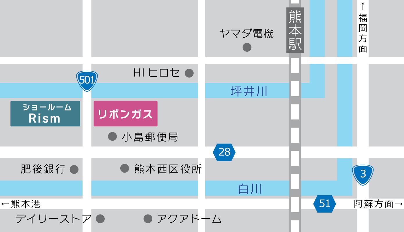 ユカカラ暖房体験型ショールーム(R-ism)地図