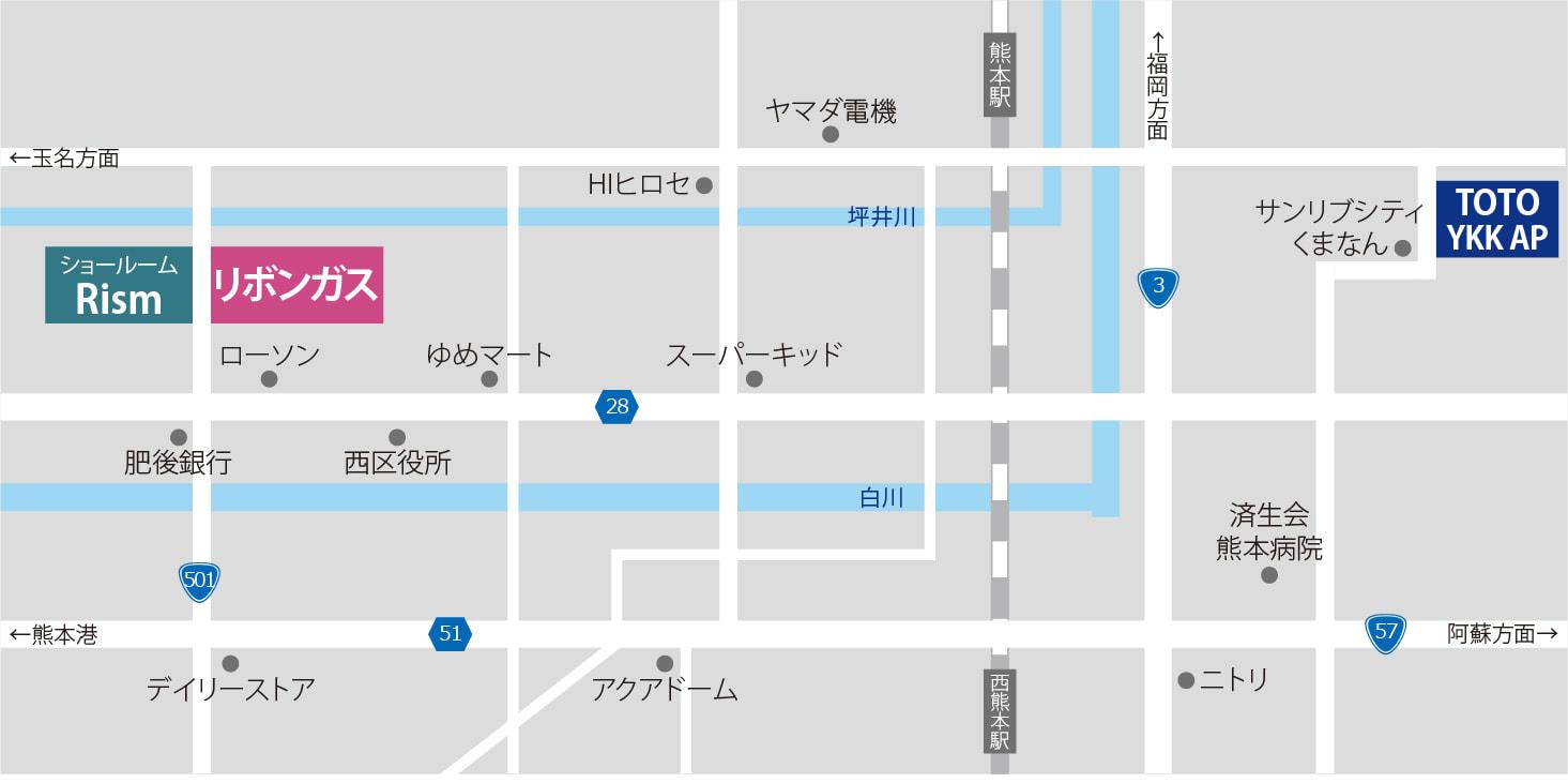 ショールームスタンプラリー マップ