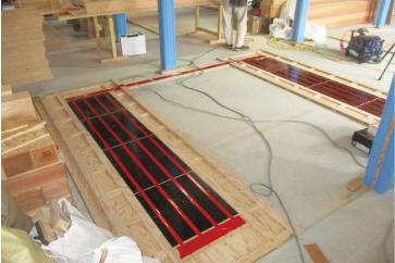 肥後大津ごちそう 金之助 温水床暖房 施工事例